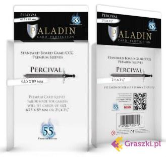 Koszulki na karty Percival Premium CCG (63,5x89), 55 sztuk